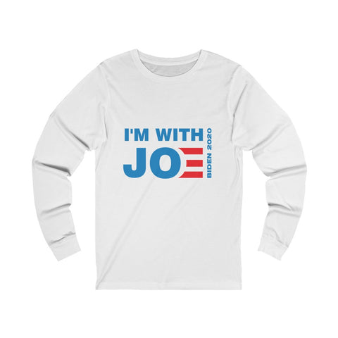 I'm With Joe Jersey Long Sleeve Tee - PoliticHell