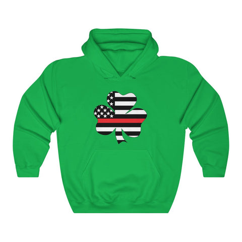 American Flag Clover Red Stripe Hoodie - PoliticHell