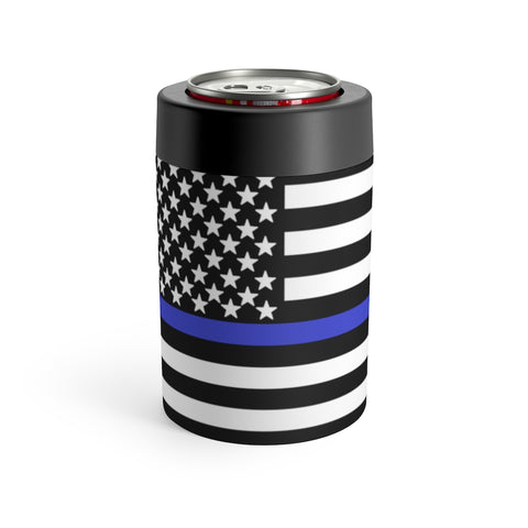 American Flag Blue Stripe Can Holder - PoliticHell