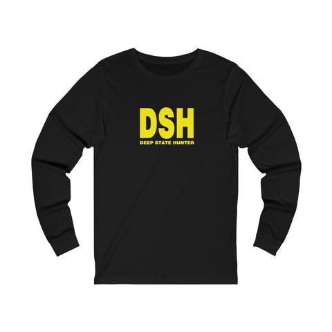 Deep State Hunter Unisex Jersey Long Sleeve Tee - PoliticHell