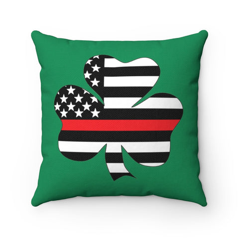 American Flag Clover Red Stripe Pillow - PoliticHell