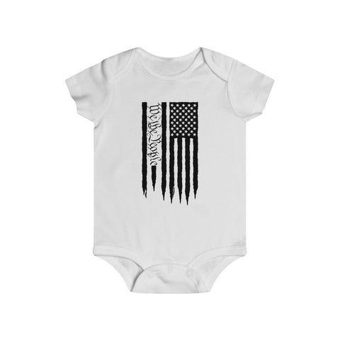 American Flag We The People Bottom Snap Onesie - PoliticHell