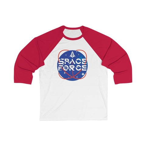 Space Force 3/4 Sleeve Baseball Tee - PoliticHell