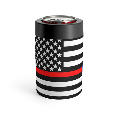 American Flag Red And Blue Stripe Can Holder - PoliticHell