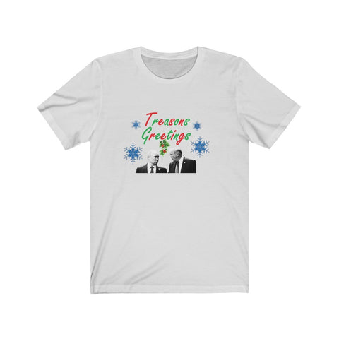 Treasons Greetings Short Sleeve Shirt - PoliticHell