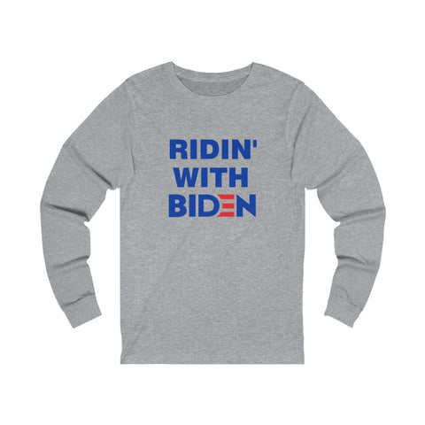 Ridin With Biden Jersey Long Sleeve Tee - PoliticHell