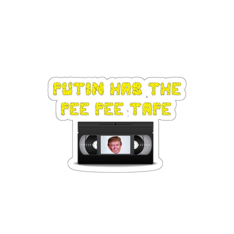 Putin Has The Pee Pee Tape Sticker - PoliticHell
