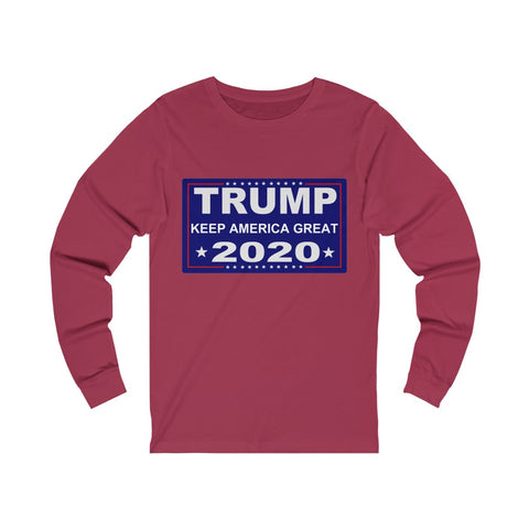 Trump Keep America Great 2020 Unisex Jersey Long Sleeve Tee - PoliticHell