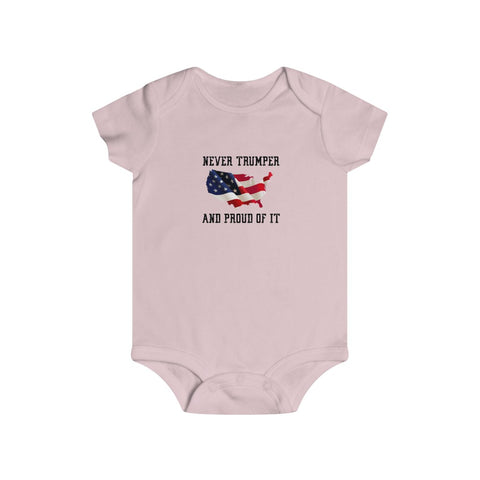 Never Trumper And Proud Of It Bottom Snap Onesie - PoliticHell