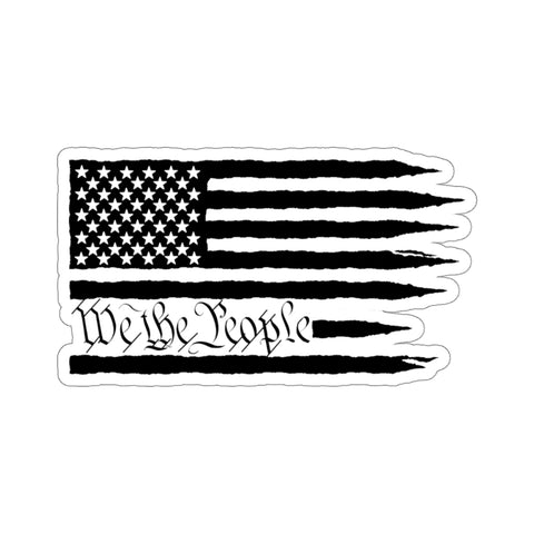 American Flag We The People Sticker - PoliticHell