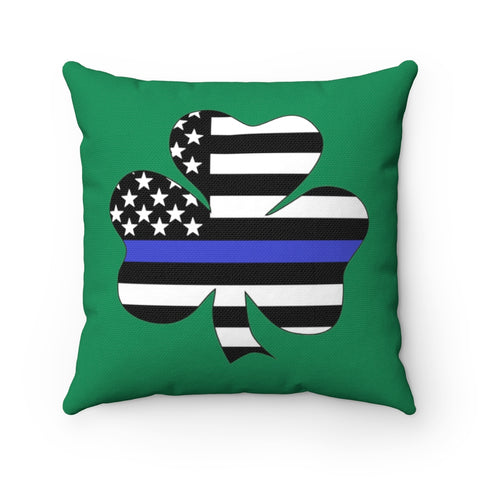 American Flag Clover Blue Stripe Pillow - PoliticHell