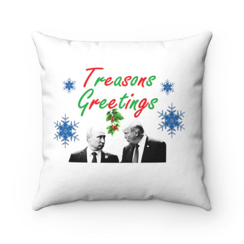 Treasons Greetings Pillow - PoliticHell