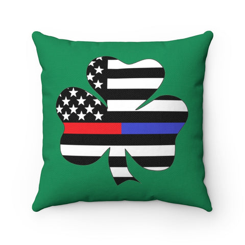 American Flag Clover Blue And Red Stripe Pillow - PoliticHell