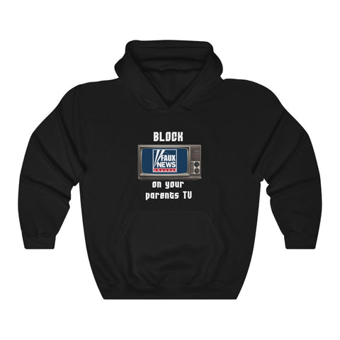 Block Faux News Hoodie - PoliticHell