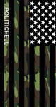 PoliticHell American Flag Camouflage Stripe Phone Wallpaper - PoliticHell