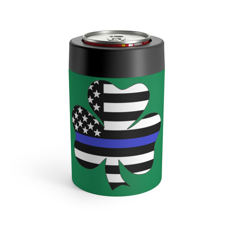 American Flag Clover Blue Stripe Can Holder - PoliticHell