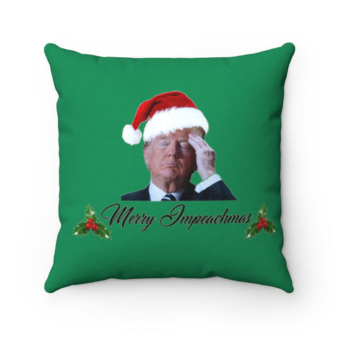 Merry Impeachmas Pillow - PoliticHell