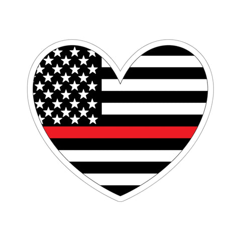 American Flag Heart Red Stripe Sticker - PoliticHell