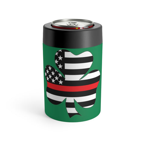American Flag Clover Red Stripe Can Holder - PoliticHell
