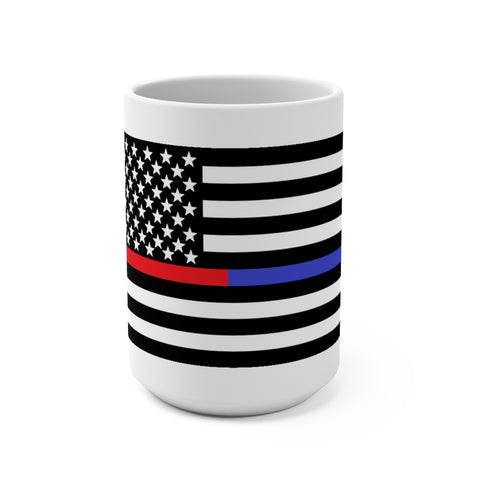 American Flag Blue And Red Stripe Mug 15 oz - PoliticHell