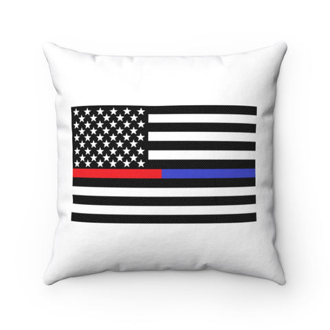 American Flag Blue And Red Stripe Pillow - PoliticHell