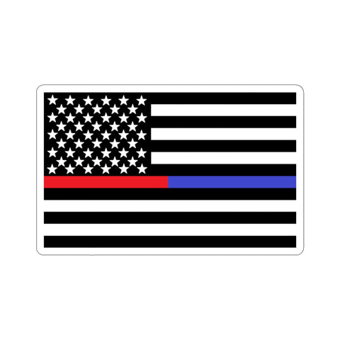 American Flag Blue And Red Stripe Sticker - PoliticHell