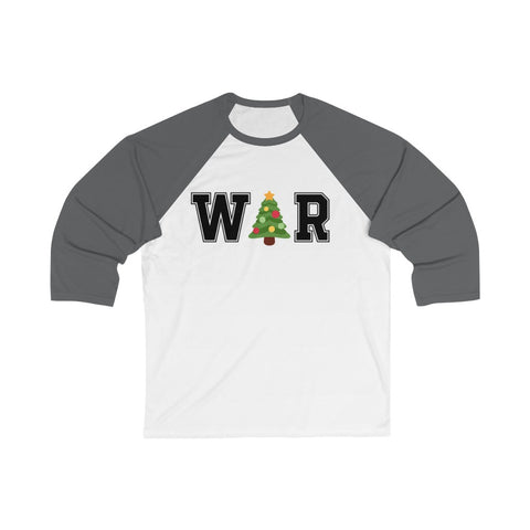 War On Christmas 3/4 Sleeve Baseball Tee - PoliticHell