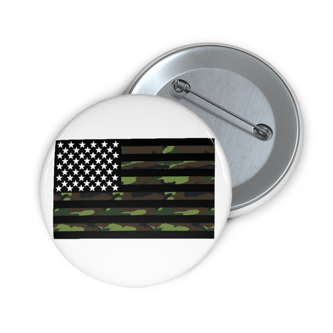 American Flag Camouflage Stripe Pin Button - PoliticHell