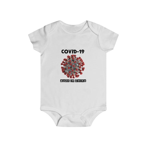 Covid-19 Made In China Bottom Snap Onesie - PoliticHell