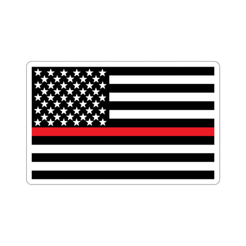 American Flag Red Stripe Sticker - PoliticHell