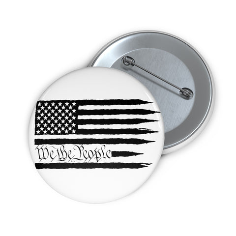 American Flag We The People Pin Button - PoliticHell