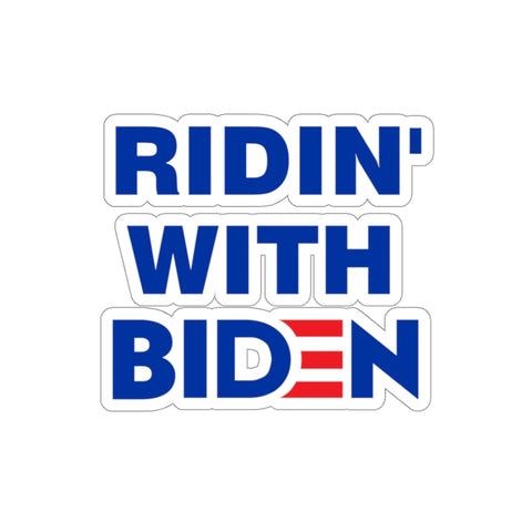 Ridin With Biden Sticker - PoliticHell