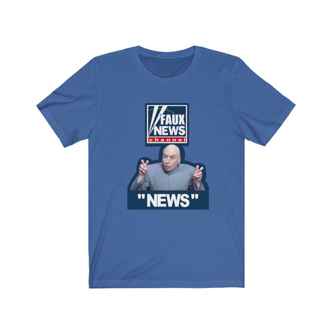 Faux News Short Sleeve Shirt - PoliticHell
