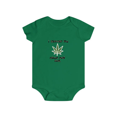 I Support The Green New Deal Bottom Snap Onesie - PoliticHell
