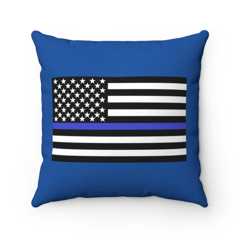 American Flag Blue Stripe Pillow - PoliticHell