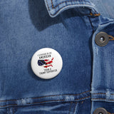 I'd Rather Be An American Than A Trump Supporter Pin Button - PoliticHell