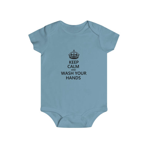Keep Calm And Wash Your Hands Bottom Snap Onesie - PoliticHell