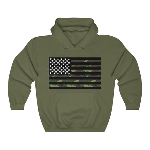 American Flag Camouflage Stripe Hoodie - PoliticHell