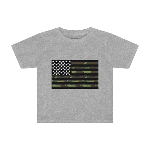 American Flag Camouflage Stripe Kids Tee - PoliticHell