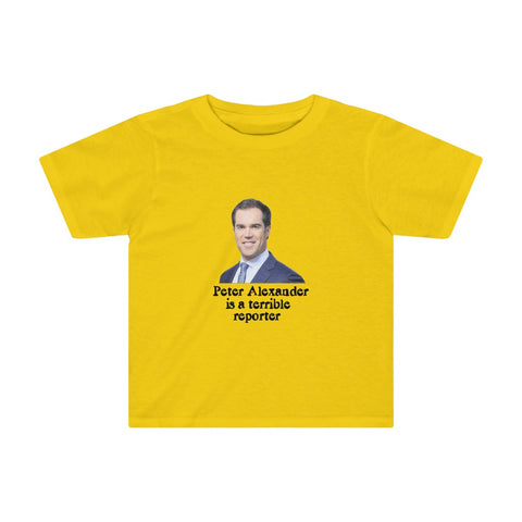Peter Alexander Is A Terrible Reporter Kids Tee - PoliticHell