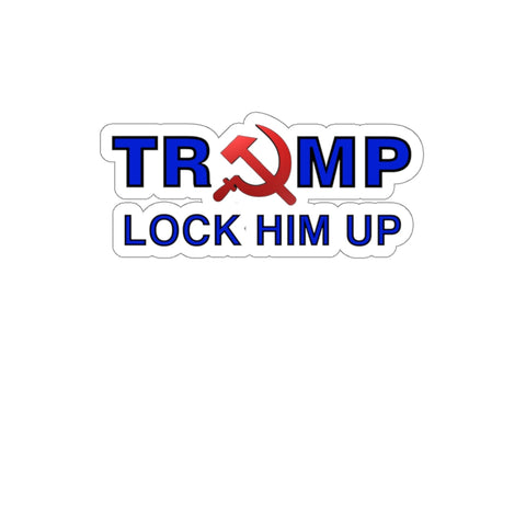 Lock Him Up Sickle Sticker - PoliticHell