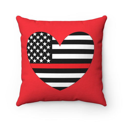 American Flag Heart Red Stripe Pillow - PoliticHell