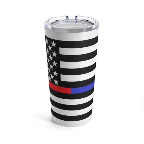 American Flag Blue And Red Stripe Tumbler 20 oz - PoliticHell