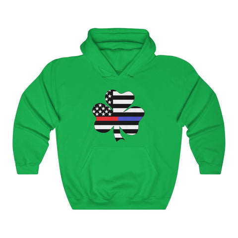 American Flag Clover Blue And Red Stripe Hoodie - PoliticHell