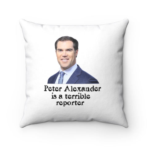 Peter Alexander Is A Terrible Reporter Pillow - PoliticHell