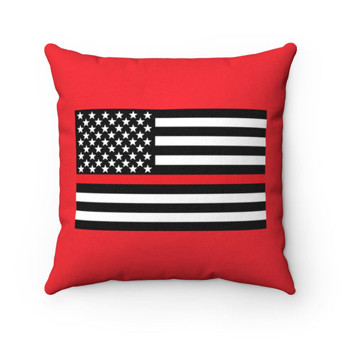 American Flag Red Stripe Pillow - PoliticHell