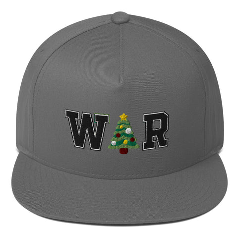 War On Christmas Flat Bill Cap - PoliticHell