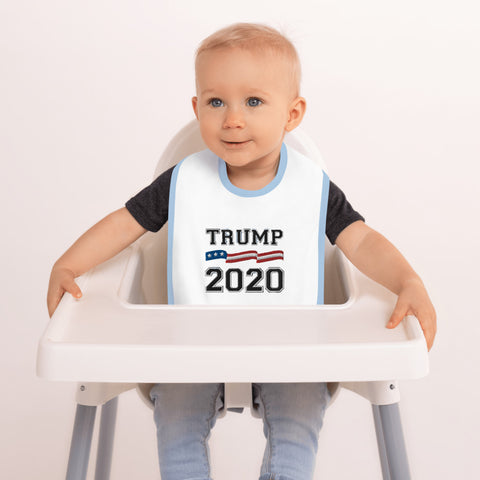Trump 2020 Embroidered Baby Bib - PoliticHell
