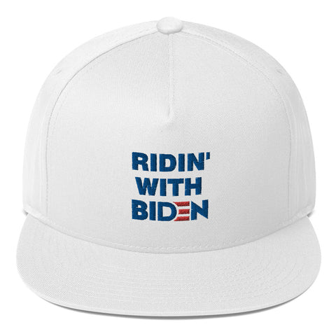 Ridin With Biden Flat Bill Cap - PoliticHell