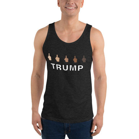 Middle Finger Trump Unisex Tank Top - PoliticHell